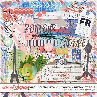 Around the world: France - Mixed Media by Amanda Yi & WendyP Designs