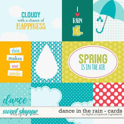 Dance In The Rain | Journal Cards by Digital Scrapbook Ingredients