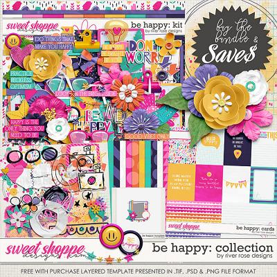 Be Happy: Collection + FWP by River Rose Designs