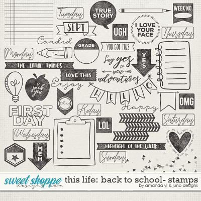 This Life: Back To School- Stamps by Amanda Yi & Juno Designs