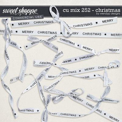 CU mix 252 - Christmas ribbons by WendyP Designs