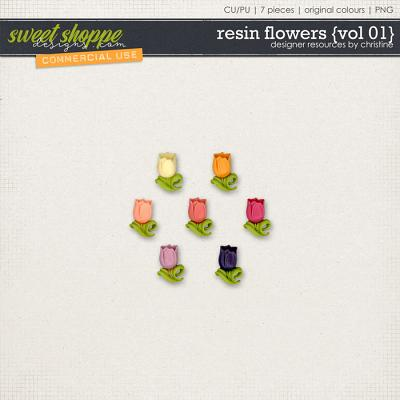 Resin Flowers {Vol 01} by Christine Mortimer