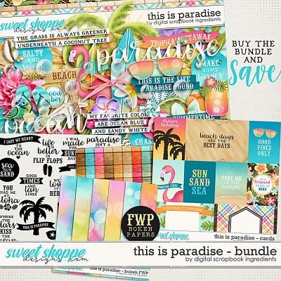 This Is Paradise Bundle & *FWP* by Digital Scrapbook Ingredients