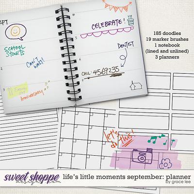 Life's Little Moments September: Planner by Grace Lee