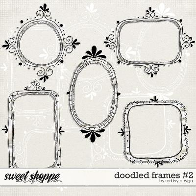 Doodled Frames #2 by Red Ivy Design