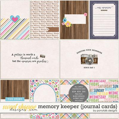 Memory Keeper Journal Cards by Ponytails