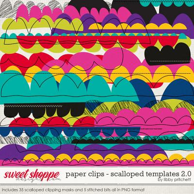 Paper Clips - Scalloped Templates 2.0 by Libby Pritchett