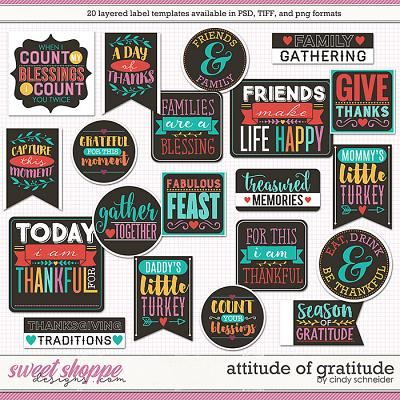 Cindy's Layered Labels - Attitude of Gratitude by Cindy Schneider