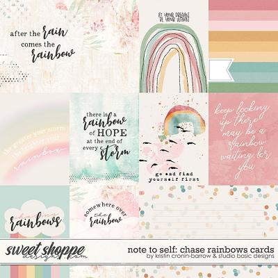 Note To Self: Chase Rainbows Cards by Kristin Cronin-Barrow & Studio Basic
