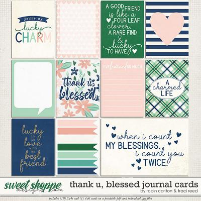 Thank U, Blessed Cards by Robin Carlton & Traci Reed