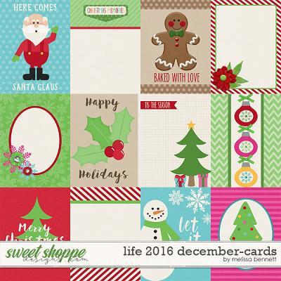 Life 2016-December Cards by Melissa Bennett