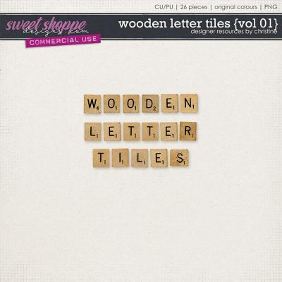 Wooden Letter Tiles {Vol 01} by Christine Mortimer