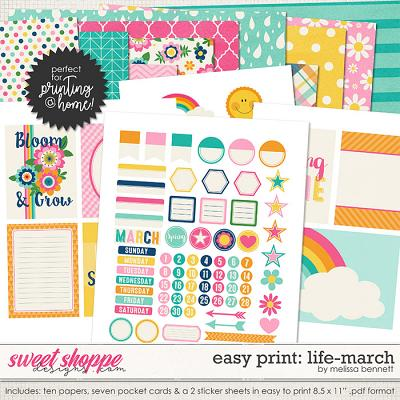 Easy Print: Life-March by Melissa Bennett