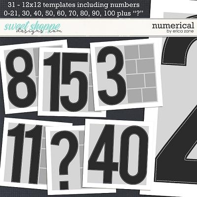 Numerical Templates by Erica Zane