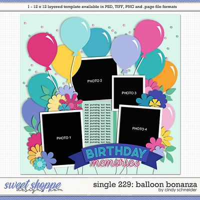 Cindy's Layered Templates - Single 229: Balloon Bonanza by Cindy Schneider