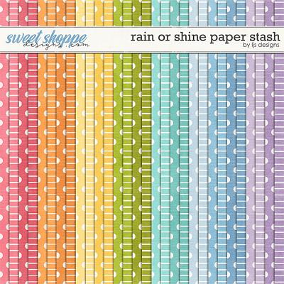 Rain Or Shine Paper Stash by LJS Designs