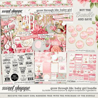 Grow Through Life - Baby Girl Bundle & *FWP* by Kristin Cronin-Barrow & Digital Scrapbook Ingredients