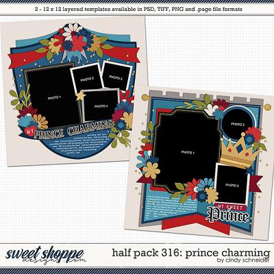 Cindy's Layered Templates - Half Pack 316: Prince Charming by Cindy Schneider