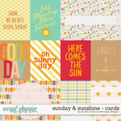 Sunday & Sunshine Cards by Studio Basic & WendyP Designs