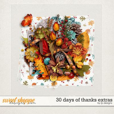 30 Days of Thanks Extras by LJS Designs