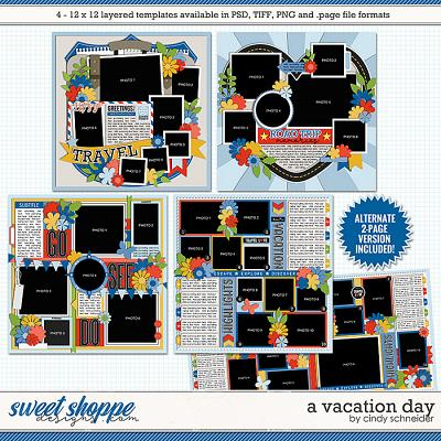 *FREE with your $10 Purchase* A Vacation Day Templates by Cindy Schneider