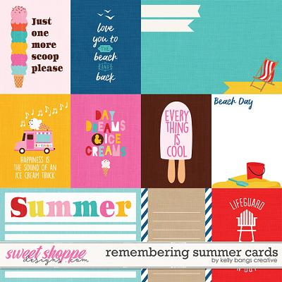 Remembering Summer Cards by Kelly Bangs Creative
