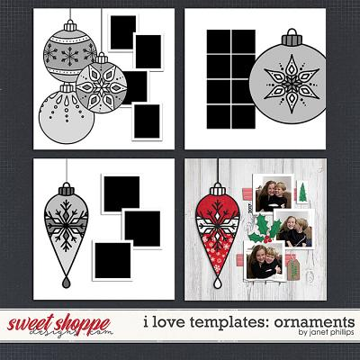 I LOVE TEMPLATES: Ornaments by Janet Phillips