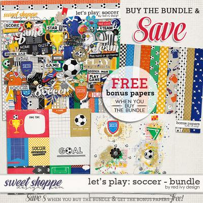 Let's Play: Soccer - Bundle by Red Ivy Design