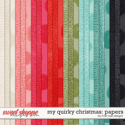 My Quirky Christmas: Papers by River Rose Designs