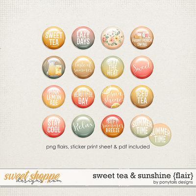 Sweet Tea & Sunshine Flair by Ponytails