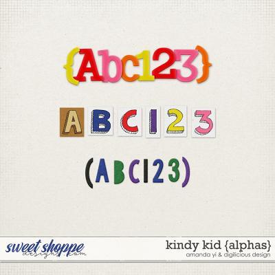 Kindy Kid {Alphas} by Digilicious Design