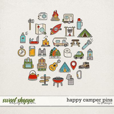 Happy Camper Pins by LJS Designs