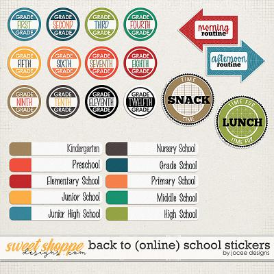 Back to (online) School Stickers by JoCee Designs