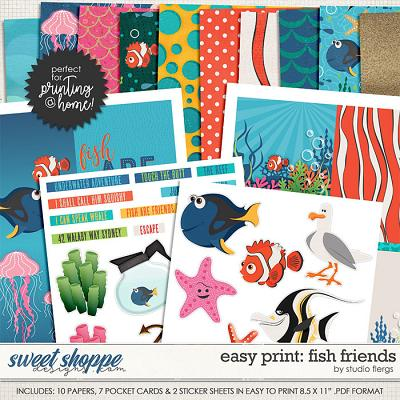 Remember the Magic: FISH FRIENDS- EZ PRINT by Studio Flergs