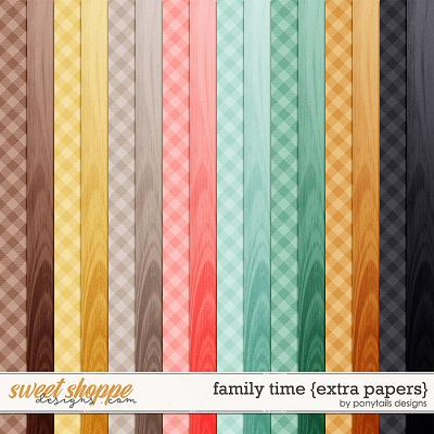Family Time Extra Papers by Ponytails