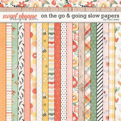 On The Go & Going Slow 12x12 Papers by Traci Reed