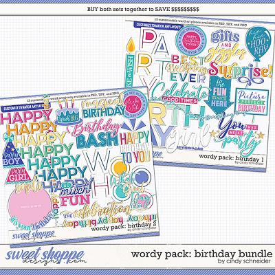 Cindy's Wordy Pack: Birthday Bundle by Cindy Schneider
