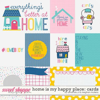 Home Is My Happy Place-Card Pack by Amanda Yi Designs & Meghan Mullens