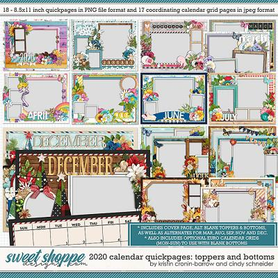 2020 Quickpage Calendars by Cindy Schneider & Kristin Cronin-Barrow