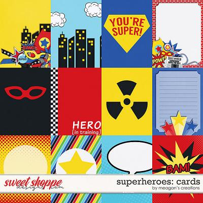 Superheroes: Cards by Meagan's Creations
