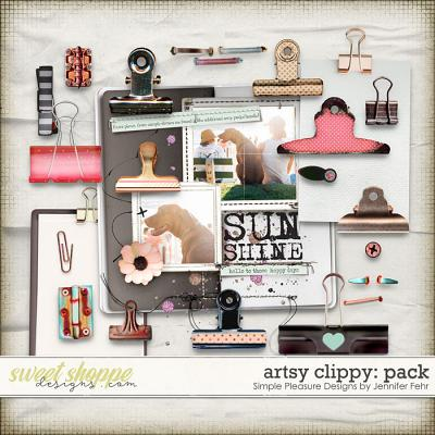 artsy clippy pack: simple pleasure designs by jennifer fehr