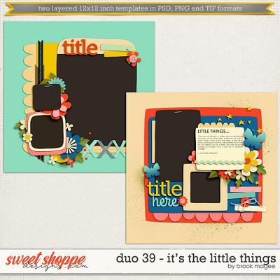 Brook's Templates - Duo 39 - It's The Little Things by Brook Magee