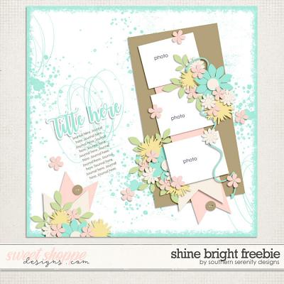Shine Bright Freebie Layered Template by Southern Serenity Designs