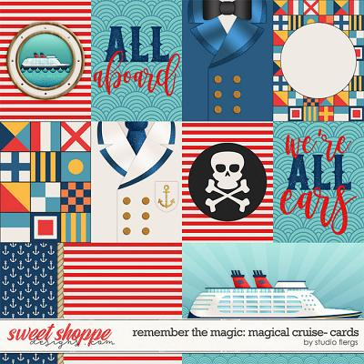 Remember the Magic: MAGICAL CRUISE- CARDS by Studio Flergs