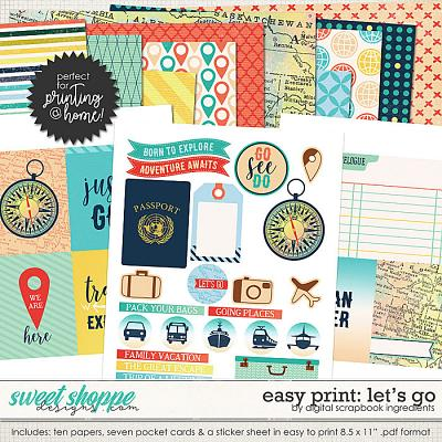 Easy Print: Let's Go by Digital Scrapbook Ingredients
