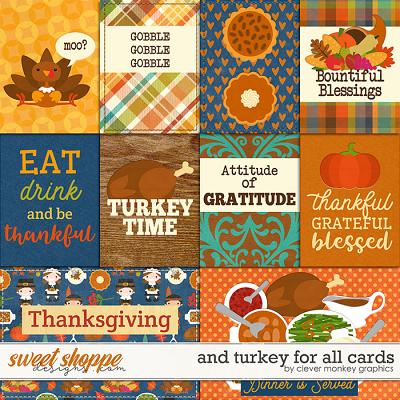 And Turkey for All Cards by Clever Monkey Graphics
