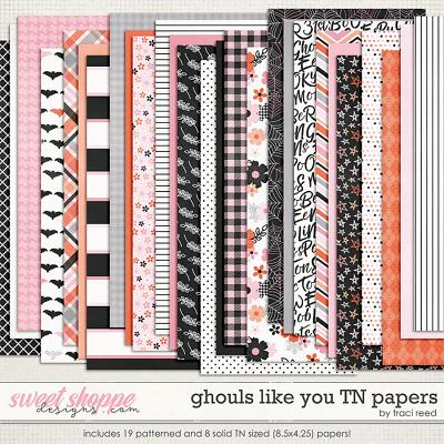 Ghouls Like You: Traveler's Notebook Papers by Traci Reed