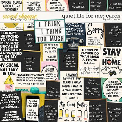 Quiet Life For Me: Cards by Erica Zane