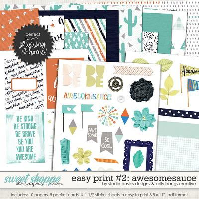 Easy Print: Awesomesauce 2 by Kelly Bangs Creative and Studio Basic