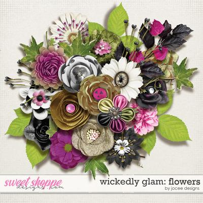Wickedly Glam Flowers by JoCee Designs